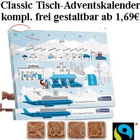 Fairtrade Classic Tisch-Adventskalender