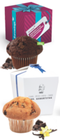 Muffin Maxi in Promotion-Box mit Firmenlogo
