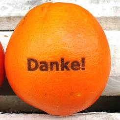 "Orange ""Danke"""